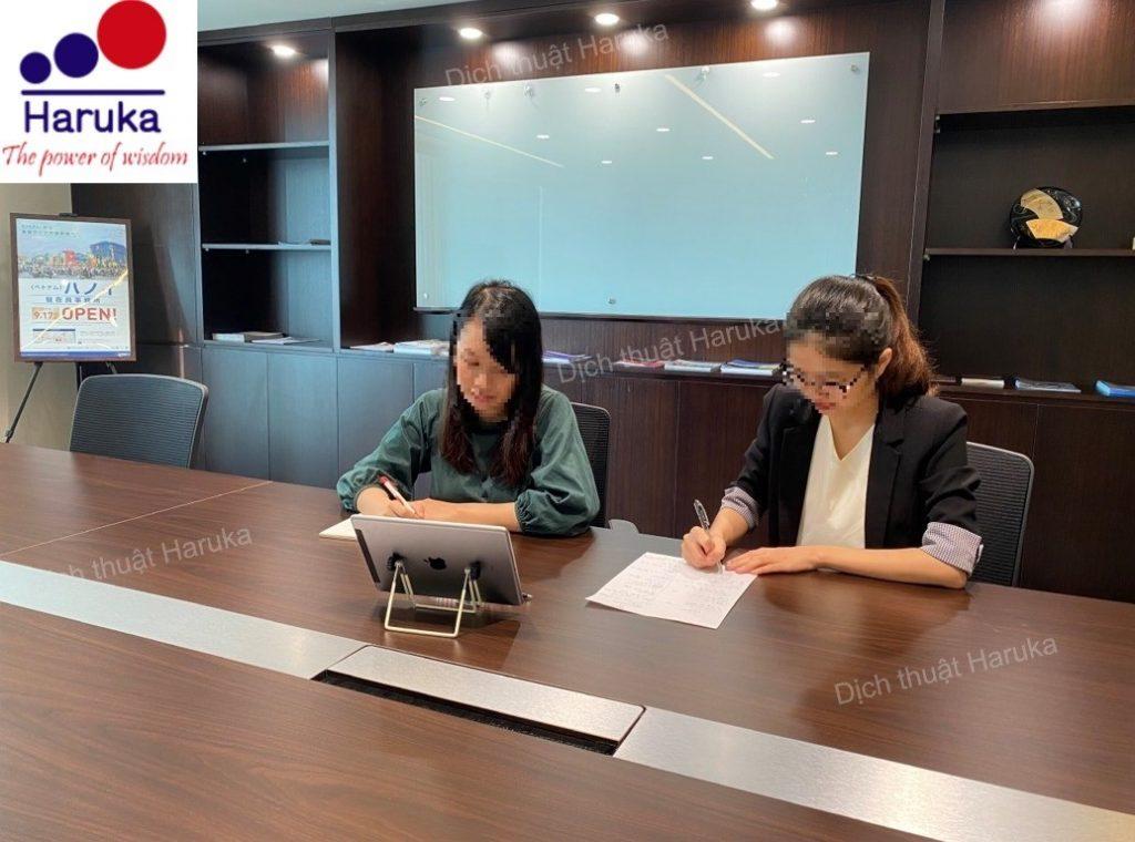 Haruka cung cấp thành công phiên dịch Nhật Việt tại Hà Nội về lĩnh vực nông nghiệp